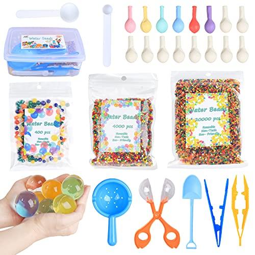 HTDZSW Wasserperlen - als Kind Geschenkbox - 14 Farben, Wiederverwendbar, Wasserperlen für Kinder Ungiftig, Wasserperlen Sehr Passend für Blumen Pflanzen und Vasen …