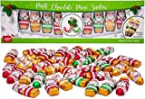 Made in USA Christmas Mini 2' Milk Chocolate Santas Individually Wrapped in Foil 2 lbs (12 Pack - Gift Ready)