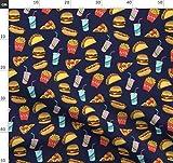 Hotdog, Fast Food, Pizza, Taco, Fritten, Burger Stoffe -