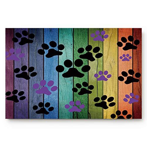 Dirty Dog Paw Prints Doormats Entrance Front Door Rug...