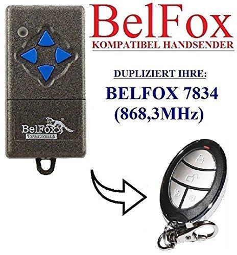 BELFOX 7834 Kompatibel Handsender, Ersatz sender, 868.3Mhz fixed code, Klone