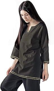 KSUA Womens Zen Meditation Suit Tai Chi Uniform Chinese Kung Fu Clothing Cotton Martial Arts Suit