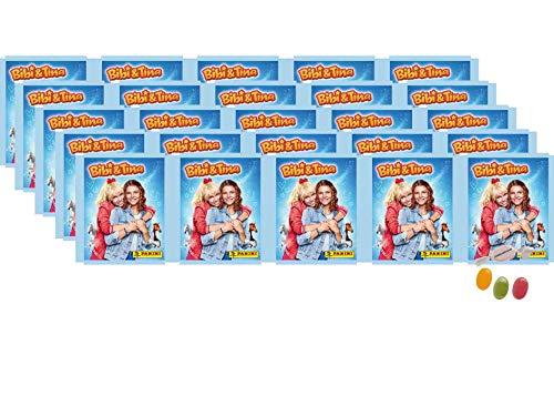 Panini Bibi & Tina Sticker (2020) Sammelsticker - 25 x Tüten ( je 5 Sticker) zusätzlich erhalten Sie 1 x Fruchtmix Sticker-und-co Bonbon