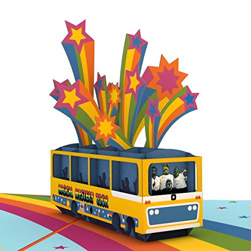 Lovepop The Beatles Magical Mystery Tour Pop Up Card, Father�s Day Card, Birthday Card, 3D Greeting Card, Beatles Card, Card For Dad