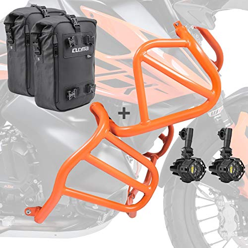 Set Engine Guard + Auxiliary lights for KTM 790 Adventure/R 19-20 + CB4 og