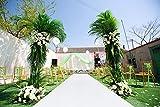 Sequin Aisles Floor Runner-4FTX15FT Wedding Aisle Runner (4FTX15FT, White)