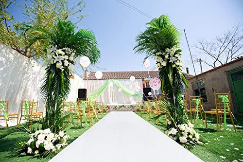 ShiDianYi Sequin Aisle Runner-4FTx25FT-White-Sparkle Aisle Runner, Glitter Aisle Runner, Aisle Runner for Outdoor Wedding (White)