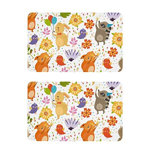Imanes para nevera con diseño de conejo, zorro, mapache, divertidos imanes para nevera, decoración para pizarra blanca, oficina, cocina, 2 unidades