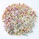 TW1000 50PCS / Set 2CM Cabezas de Flores de Margarita Mini Flores Artificiales de Seda para Guirnalda Scrapbooking Decoración de Boda en casa (Color Mezclado)