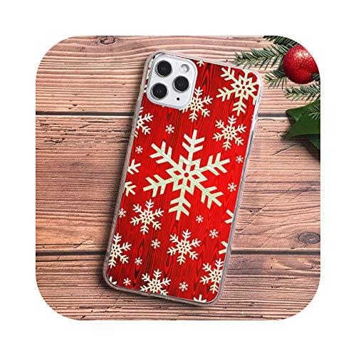 KASHINO Bonita funda de teléfono de Navidad para iPhone 11 PRO MAX XR XS max 6 8 7 plus SE 2020 colores caramelo mate suave TPU Caso D1459-For 7 Plus 8 Plus