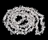 AD Beads 34 inches 5-10mm Natural Chips Nuggets Freeform Tumbled Irregular Gemstone for Necklace Bracelet Earring Chandelier Healing Crystal(Clear Crystal)