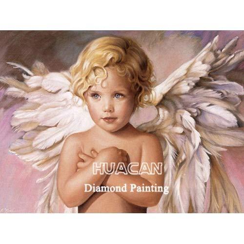 CDNY Niño retrato-5D Pintura Diamante Kit,-Cristal Diamante Bordado Pinturas Artes Kit-decoración de Pared del hogar40x40cm40x50cm