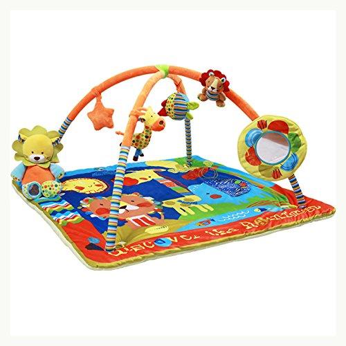 JYSPORT Baby Spieldecke Spielbögen Activity Gym Krabbeldecke Plush Toy Rainforest Spielzeuge Matte (Rainforest)