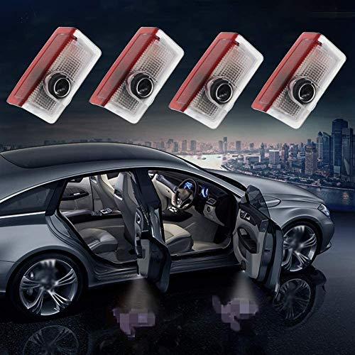MUKEZON Autotür Willkommen Licht HD Logo Symbol Projektor für Mercedes-Benz Bodenlaser Identifikation Licht Courtesy Shadow Spotlight für GLC GLE GLS GLA A B E Klasse Plug&Play