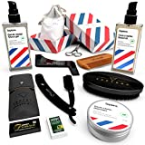 Kit Barbe Homme Complet DELUXE - Coffret Cadeau Barbe Rasage Entretien & Soin : Huile...