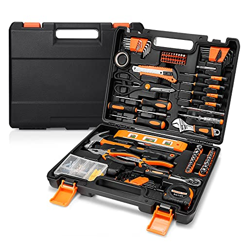 144pcs Home Repair Tool Set, General Household Too Kit, A Must Have Tool Box With Sturdy Storage Case-HHK6A