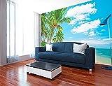 Fotomural Vinilo Pared Playa Varias Medidas 200x150cm | Decoración de comedores, Salones | Motivos Paisajísticos | Urbes, Naturaleza, Arte | Multicolor | Diseño Elegante