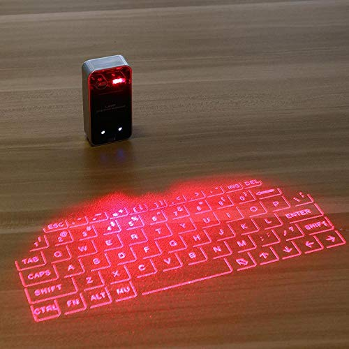 Virtual Laser Keyboard Bluetooth Wireless Projector Phone Keyboard For Computer Iphone Pad Laptop With Mouse Function BlackKB560