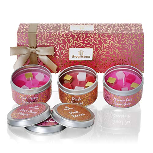 Scented Candle Gift Set, Relax Gift Set and Mum Gift. Scented Candles an for Women, Great Gifts for Her or Perfect Women's Gifts (Sweetmist)