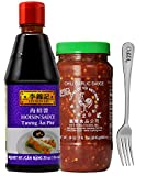 Lee Kum Kee Hoisin Sauce / Huy Fong Chili Garlic Sauce (Hoisin + Chili Garlic Sauce) with Free Vipo Brand Fork