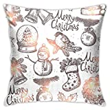 XCNGG Funda de almohadaEuropean Modern Minimalist Abstract Pattern Throw Pillow Christmas Sketch Seamless Pattern Pillow Decoration Set 18 X 18 Inches