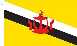 Allied Flag Outdoor Nylon Brunei United Nation Flag Gold, Red, Black, White 3 到 5 英尺