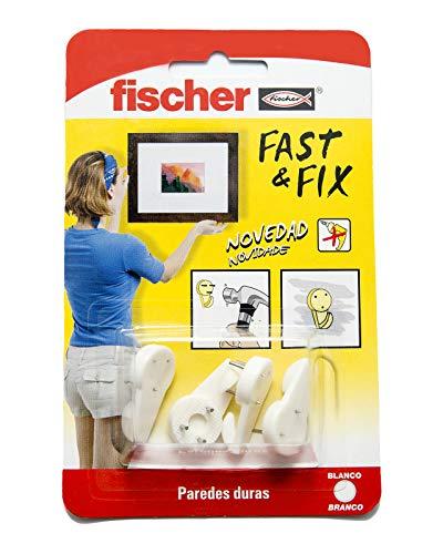 Colgador 3 Puntas Fast & Fix (Envase de 4 Ud.), 534844, Blanco