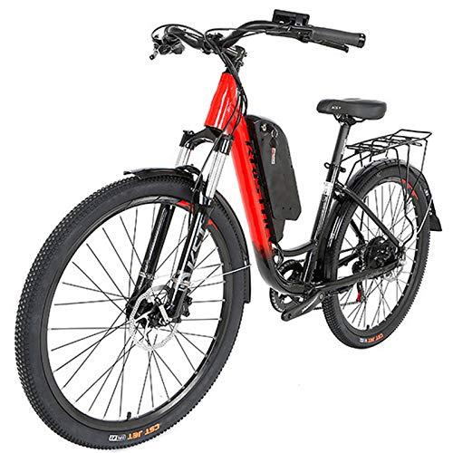 Bicicletas EléCtricas 27.5' , 250W Ebike para adultos, 25MPH eléctrica de cercanías bicicletas, extraíble de iones de litio, 9 engranajes velocidad, Bici eléctricas para las mujeres de los hombres