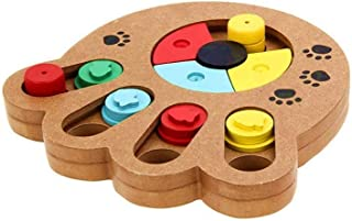Pet Intelligence Toy Pet Paw Puzzle Seek Food Treated Wooden for Small Dogs and Cats
