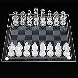 Conjunto de ajedrez Mini, Tablero de ajedrez de vidrio, Conjuntos de ajedrez de vidrio para adultos, conjunto de ajedrez moderno, piezas de ajedrez de vidrio, conjunto de ajedrez de cristal, conjunto