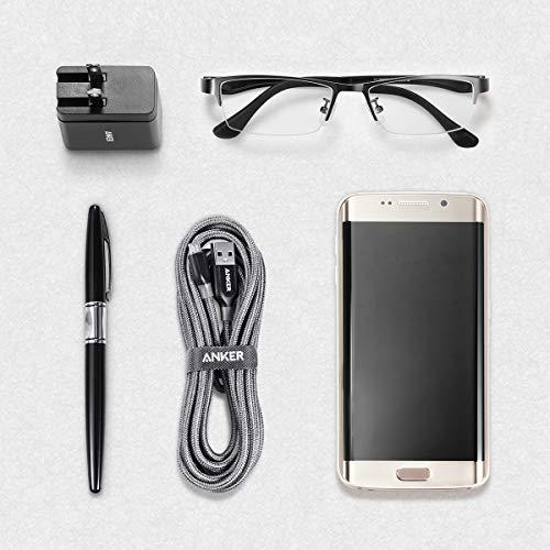 Anker Powerline+ 3 m Micro USB Kabel, Das hochwertige, schnellere & beständigere Ladekabel für Samsung, Nexus, LG, Motorola, Android Smartphones und weitere (Grau)