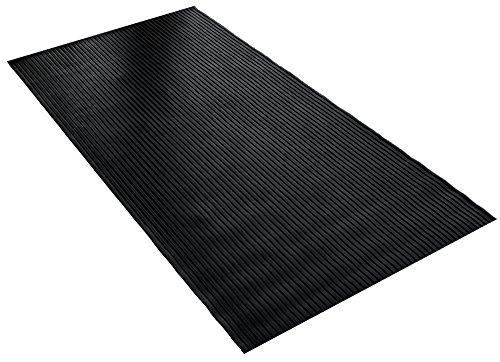 BDK GMT330 Black 8  x 4  Flex Tough Garage Thick Heavy Duty Rubber Floor Mat Protector for Garage, Shop, Parking, Patio, Entrance, 1 Pack
