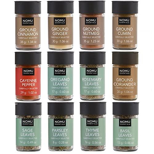 NOMU Essentials 12-Piece Herbs & Spices Starter Set Range (9.8oz) | Non-irradiated, No MSG or Preservatives