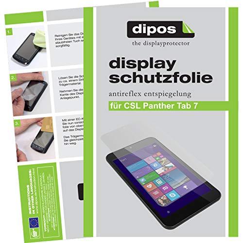 dipos I 2X Schutzfolie matt kompatibel mit CSL Panther Tab 7 Folie Bildschirmschutzfolie