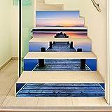 Escalera decorativa adhesiva de la etiqueta de la pared de los puentes del agua para la cocina casera