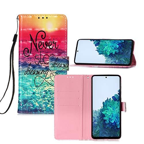 Mi Mix 2 Carteira Capa Case,IVY [3D Color Pattern Design][Never Stop Dreaming] Mi Mix 2 Youth Carteira Capa Case para Xiaomi Mi Mix 2 Cover
