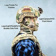 OneTigris Unisex's PJ Tactical airosft Helemt Helmet, Multicam, One Size #2