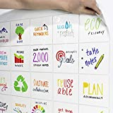 mcSquares Stickies Dry-Erase Sticky Notes - Reusable Whiteboard Stickers - 5 inch Square 6 Pack - Post Reminders, Labels, Lists, and Decals - Never Buy Paper Notes Again, Its Eco-Friendly!