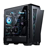 YINxy Mid-Tower Caja de PC Gaming (120 mm Ventiladores incluidos, E-ATX ATX M-ATX ITX, USB 3.1 Gen2 Type-C, Ventana Cristal Templado)