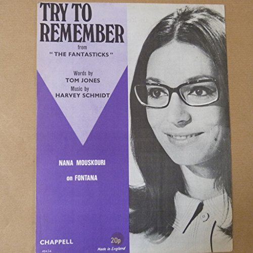 song sheet TRY TO REMEMBER Nana Mouskouri 1960