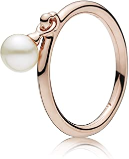 Contemporary Pearl Rose Ring