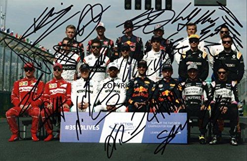Limited Edition F1Treiber 2017unterzeichnet Foto Autogramm signiertsigniertes