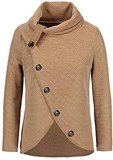 Fossen Mujer Jersey Invierno Irregular Prendas de Punto Collar de la Pila Sudaderas de Manga Larga Cardigan Suéter Talla G...