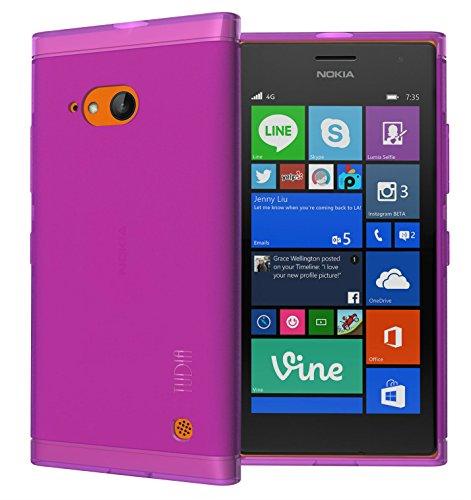 TUDIA LITE - Cover in TPU per Nokia Lumia 730, ultra sottile, colore: Viola