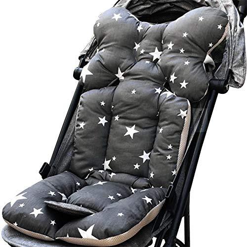 Kinderwagen Sitzkissen Sitzauflage Dicke Weiche Baumwolle Kinderwagen Matten Kissen Decke Sitz Pad für Kinderwagen Babywagen & Buggy Zubehör, 35 x 80 cm (G)