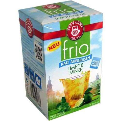 Teekanne, Frio Limette Minze Tee zum kalt aufgiessen 18x2.5g