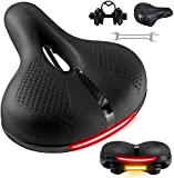 OUXI Comfort Bike Seat, Most Comfortable Oversized Bicycle Saddle Replacement Memory Foam Soft Large...