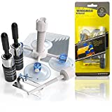 Zecurate Windshield Crack Repair Kit Car Windscreen Chip Repair Tool Vehicle Window Nano Glass Fluid with 2 Bottles of Resin Quick Fix for Chips, Cracks, Bull-Eyes, Star-Shaped Crack