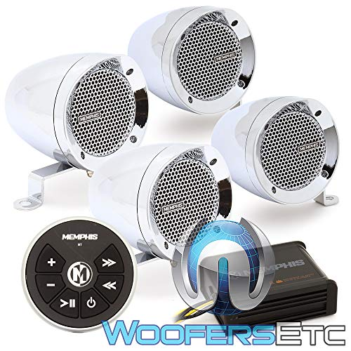 Memphis Powersports Speakers (Memphis Powersports | MXABMC4BT | Chrome)