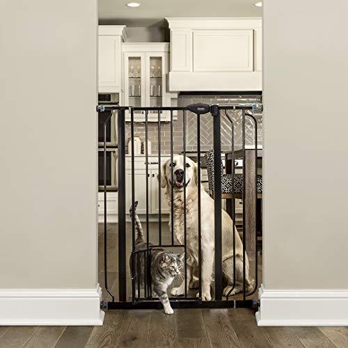 Carlson Pet Products Tor mit PET Tür, schwarz, extra hoch